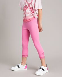 """Jersey leggings with lace """"Crystal Pink"""" Child 191GJ2183-03"""