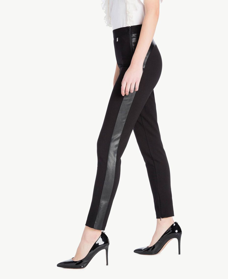 Zipped leggings Black Woman JS82FE-02