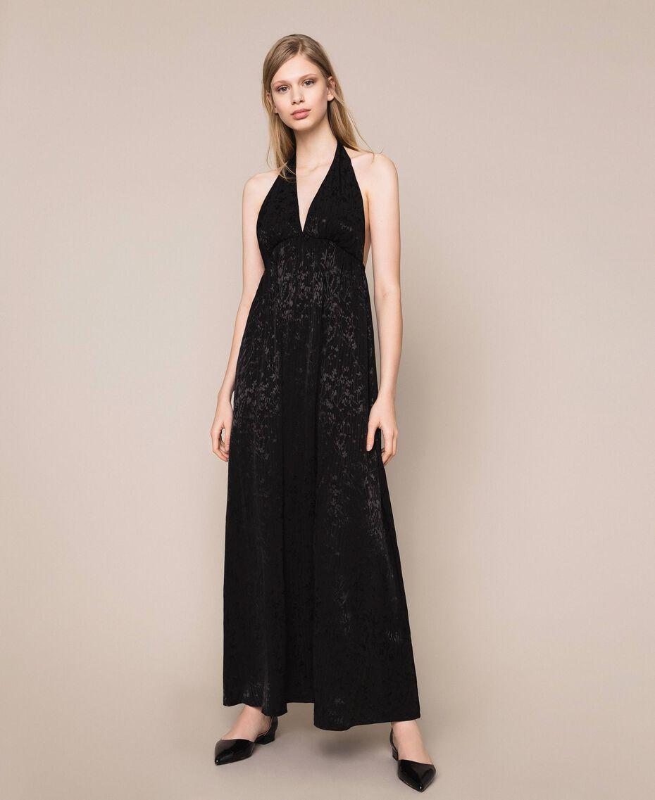 """Длинное платье с жаккардовым цветочным рисунком Оранжевый """"Витаминный"""" женщина 201LB2HAA-01"""