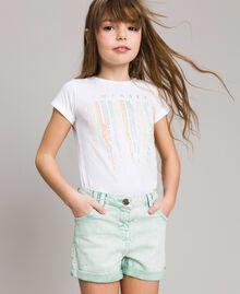 """Bull délavé shorts """"Island Paradise"""" Light Blue Child 191GJ2491-0S"""