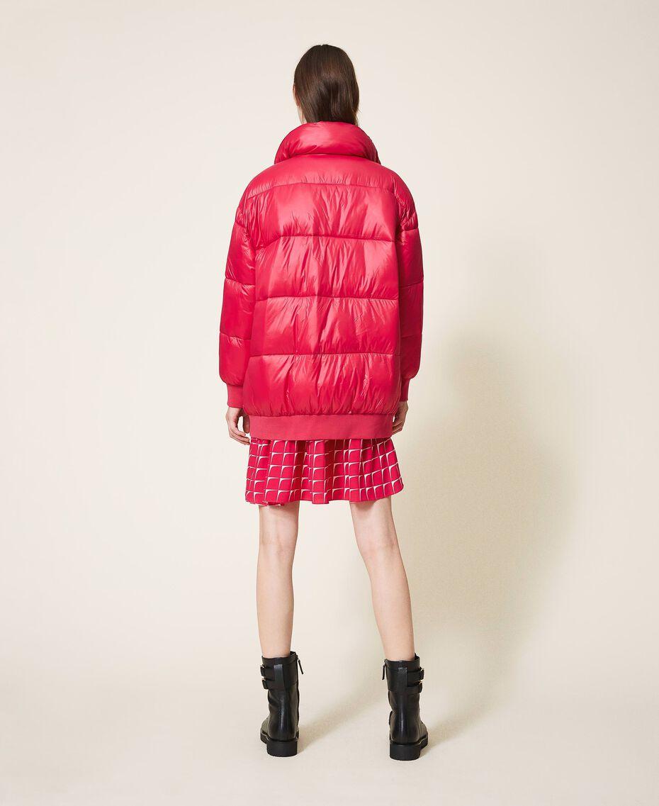 "Oversize puffer jacket with maxi pockets ""Cerise"" Fuchsia Woman 202MP2050-03"