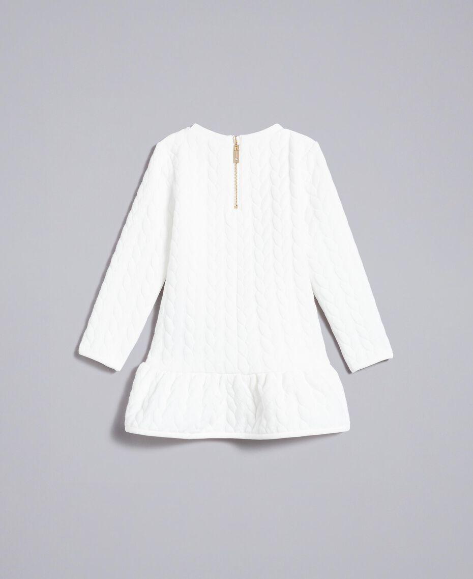 Matelassé fleece dress Off White Child FA82NP-0S