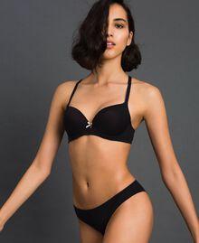 slip brésilien Noir Femme LCNN77-01