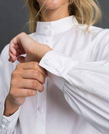 Long poplin shirt with gatherings White Woman 192ST2071-04