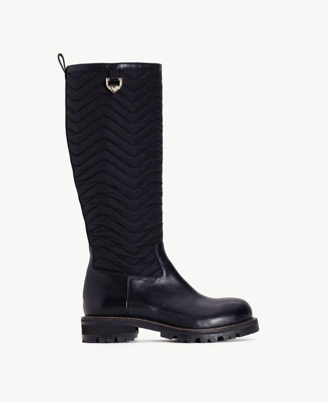 TWINSET Stiefel aus Leder Schwarz CA7TB3-01