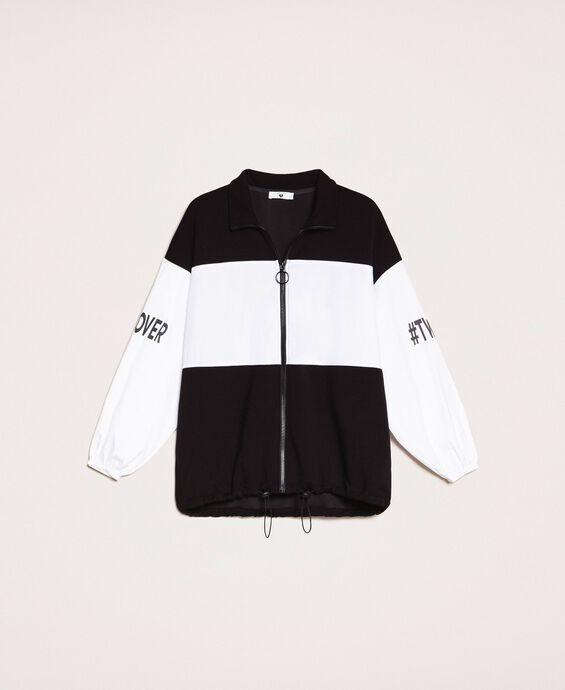 Scuba and poplin jacket