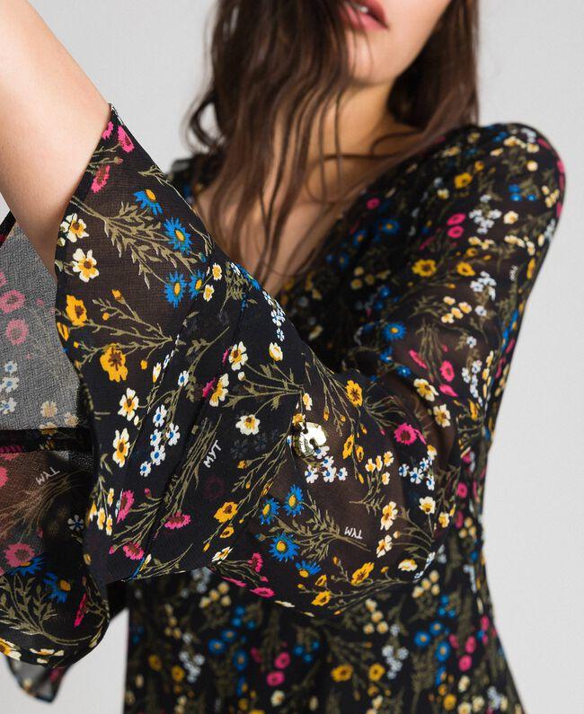 Robe avec imprimé floral Imprimé Petites Fleurs Noir Femme 192MP2228-04