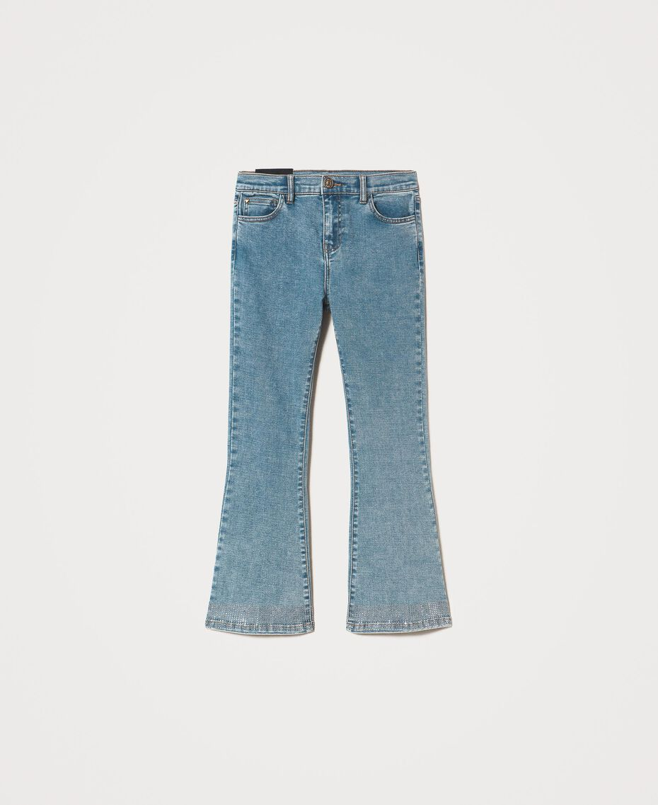 Flared jeans with studs Light Denim Woman 202MP2191-0S