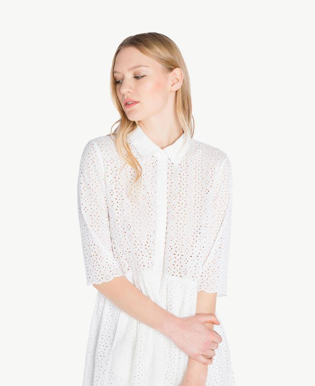 Robe broderie anglaise Off White Femme YS82CA-04