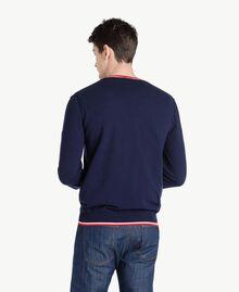 Pullover aus Baumwolle Blackout Blau Mann US831P-03