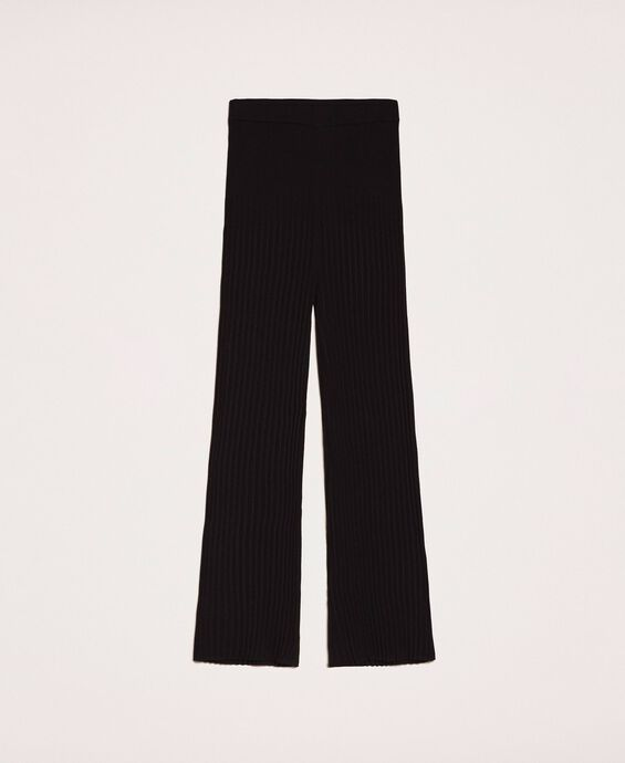 Pleated knit trousers