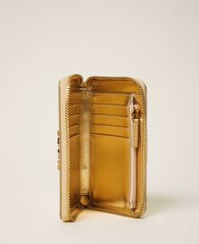 Crocodile print wallet Pale Gold Croc Print Woman 202TD8258-04
