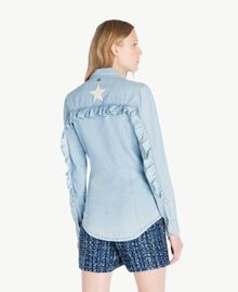 Denim shirt Denim Blue Woman JS82U1-03