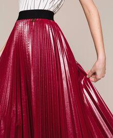 Юбка-миди из блестящей искусственной кожи Розовый Бутон женщина 201TP220A-01