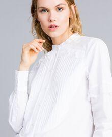 Hemd aus Baumwollpopeline Weiß Frau TA82XP-04