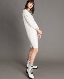 Knit dress with lace White Snow Woman 191TP3200-01