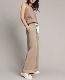 "Viscose palazzo trousers ""Grey Dust"" Woman 191LL35SS-02"