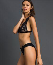 Soutien-gorge triangle avec dentelle Noir Femme 192LI6122-02