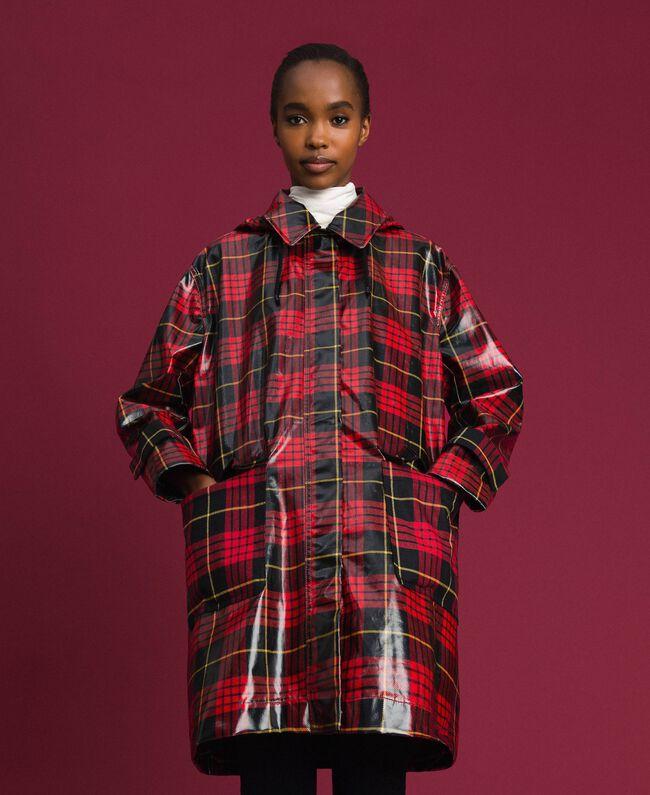 Manteau à carreaux Jacquard Tartan Grenadier Femme 192TP2550-05