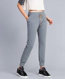 Pantalon de jogging en molleton Gris moyen chiné Femme IA85SS-02