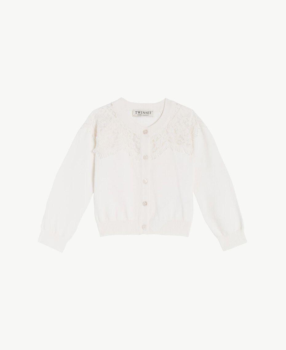 Lace cardigan Pale Cream Child FS83CA-01