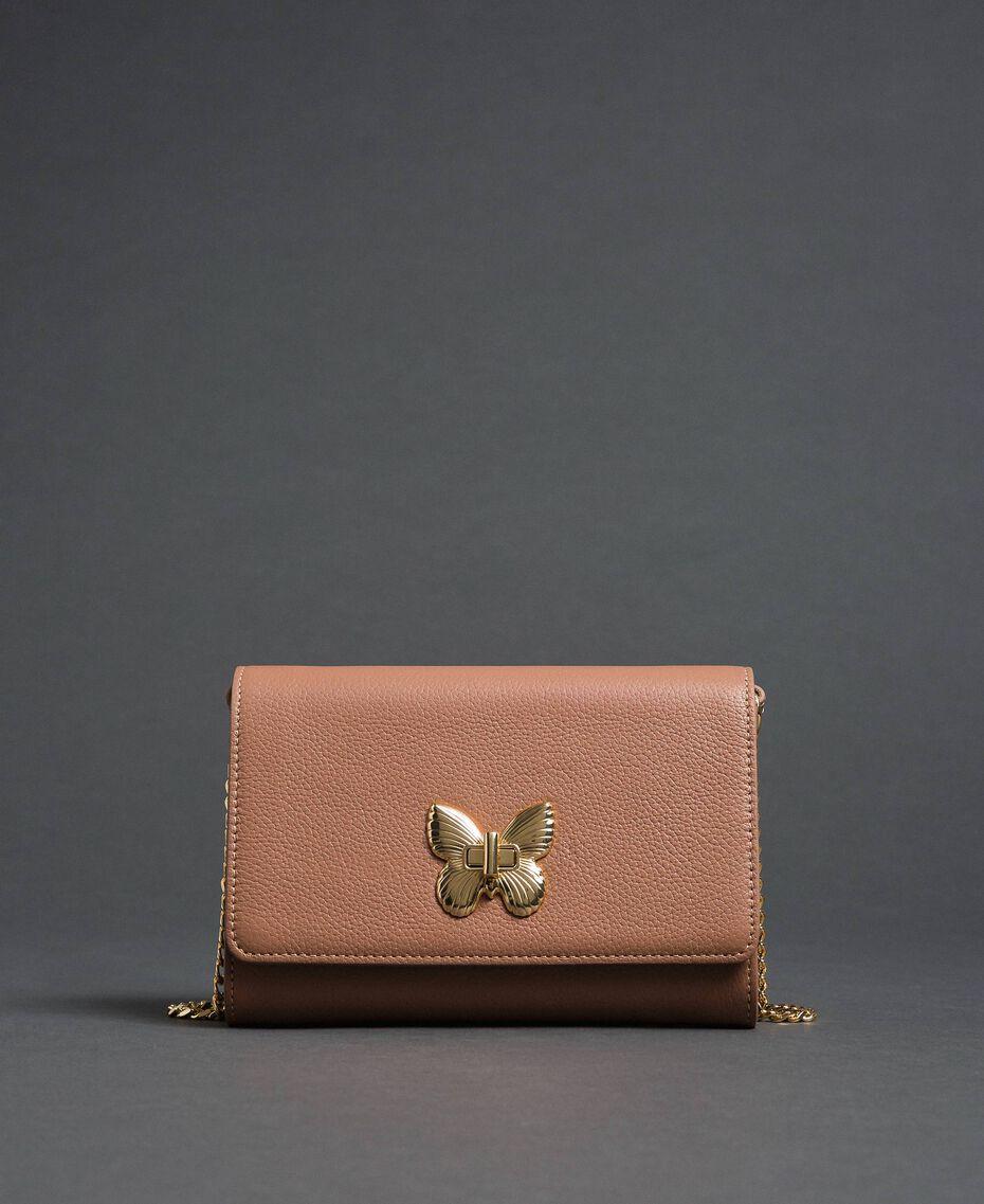 Petit sac à bandoulière avec fermoir papillon Rose Mousse Femme 192TA7022-02