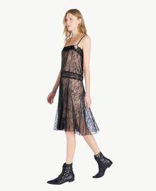 Kleid mit Spitze Schwarz Frau PS821G-02