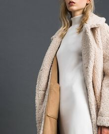 "Faux shearling reversible coat ""Vanilla"" White / Creme Caramel Woman 192MT2020-07"