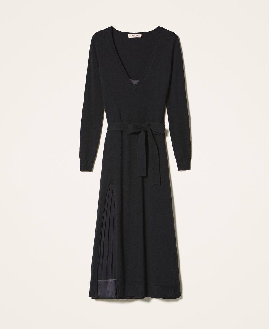 Wool blend dress with slip Black Woman 202TT3053-0S