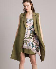"Linen shorts ""Olive"" Green Woman 191TT2309-0T"