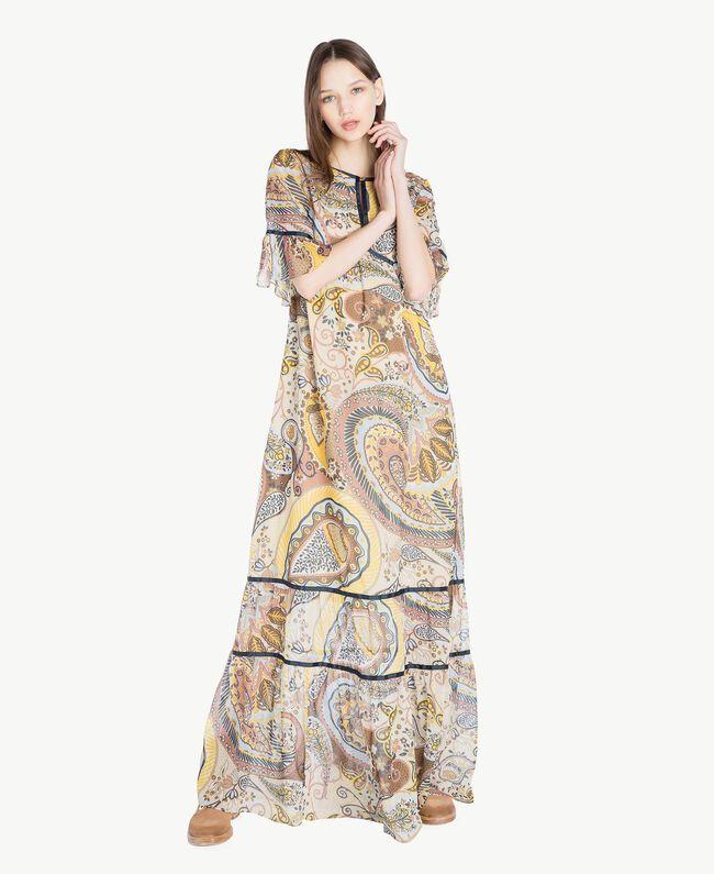 Robe longue imprimée Imprimé Cachemire Femme SS82ME-01