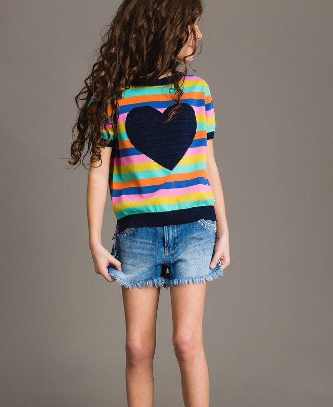 Multicolour striped cotton jumper Multicolour Striping Child 191GJ3070-04