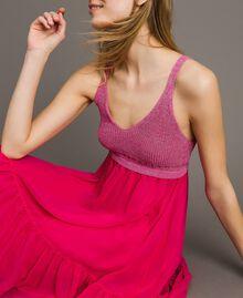 """Трикотажное платье с шифоном Фуксия """"Ядовитый розовый"""" женщина 191LB2KAA-04"""