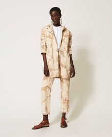 Poplin shirt with pleats White Woman 211TT245C-0T