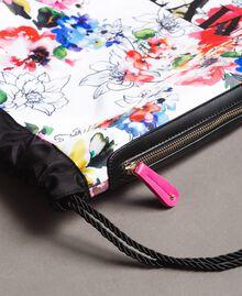 Rucksack mit Blumenmuster Fluoreszierendes Rosa Frau 191MO8061-05