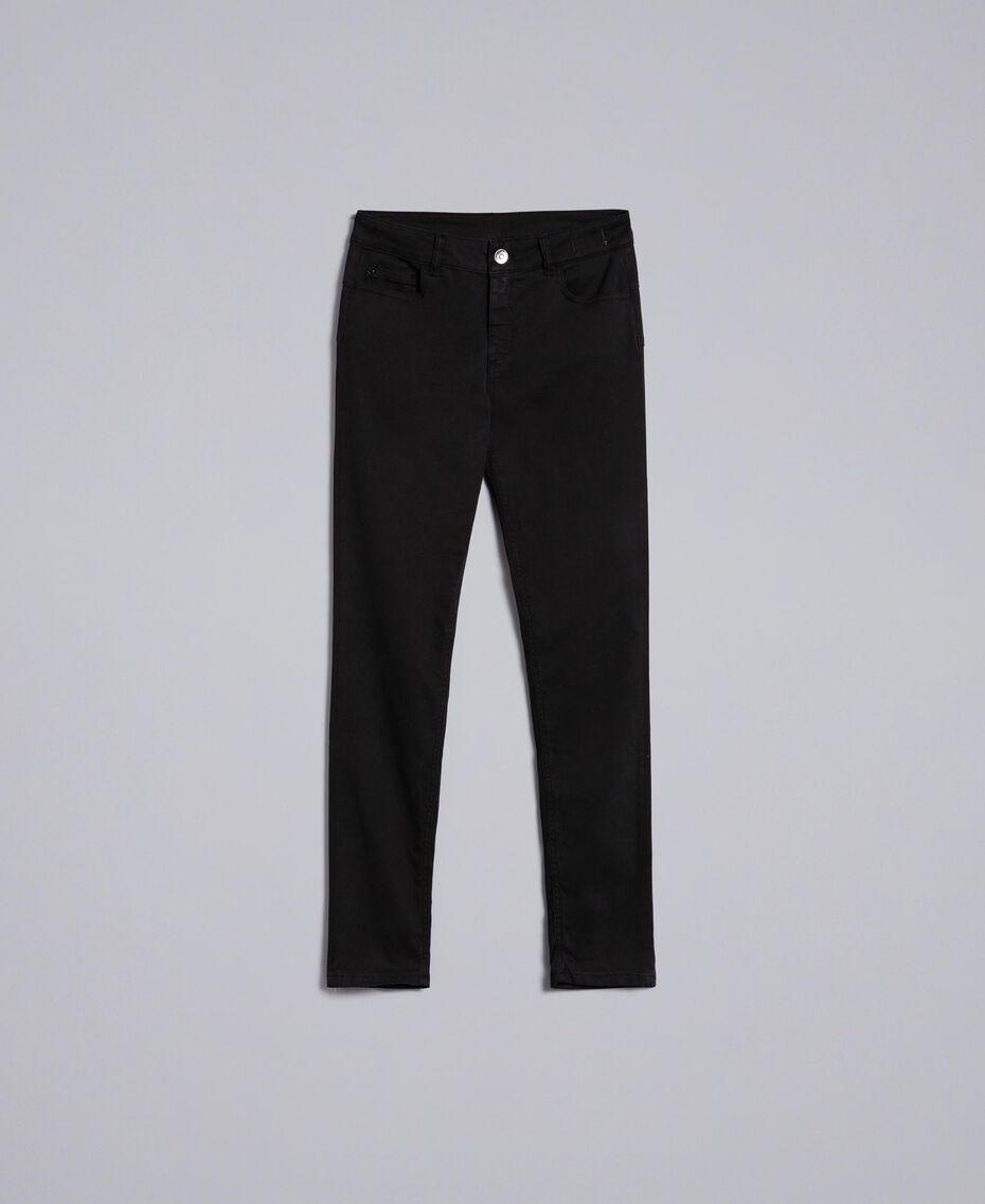 Stretch gabardine skinny trousers Black Woman JA82W1-0S