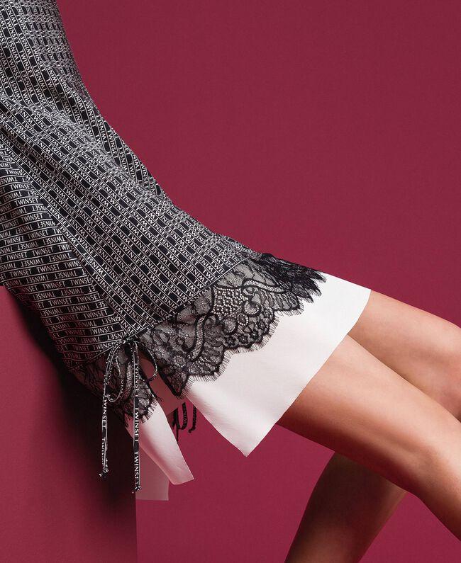 Robe nuisette avec imprimé siglé Imprimé Logo Noir / Blanc Neige Femme 192TP258B-01