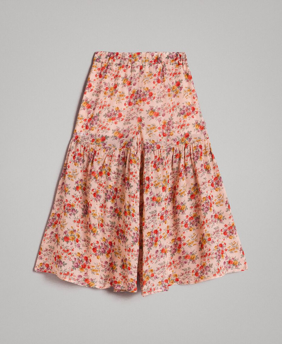 Jupe-pantalon à fleurs en georgette Imprimé Mini-Fleurs Enfant 191GB2800-0S