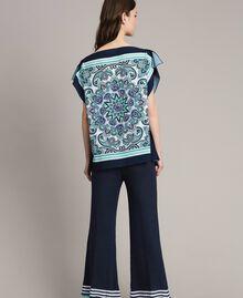 Шарф-блуза из крепдешина с принтом Ночной Синий Принт Для Шарфа женщина 191MT2122-03