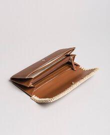 Geldbörse aus Kunstleder Erdbraun Frau 191MO8094-04