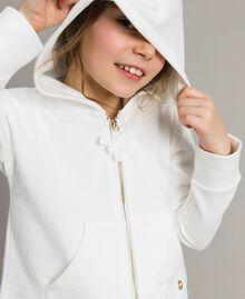 Baumwoll-Pullover mit Schleifen Mattweiß Kind 191GJ2031-05