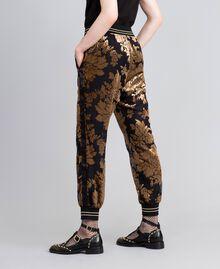 Pantalon de jogging en velours dévoré Camel Dévoré Femme PA82M2-03