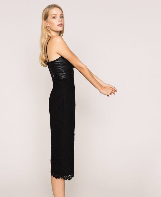 Macramé lace sheath dress