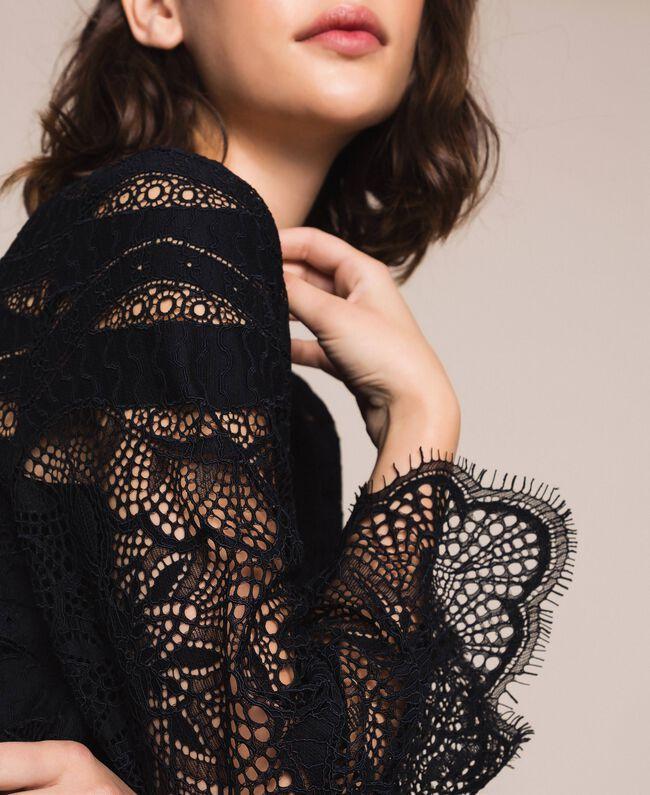 Macramé lace dress Black Woman 201TP2030-04