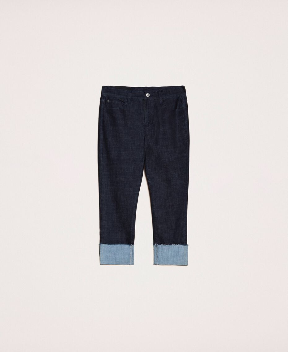 Tomboy jeans with fold Denim Blue Woman 201MP2341-0S