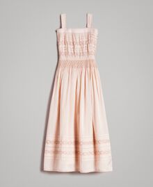 Long dress with embroideries Blossom Pink Child 191GJ2353-01