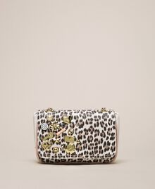 Faux leather shoulder bag with studs Black Woman 201MA7051-03