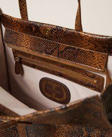 Grand cabas Twinset Bag en cuir Imprimé Whips Marron Femme 212TB7290-05