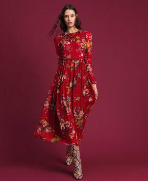 1a19f0bff9914b Vestido largo de georgette con estampado floral ...