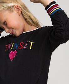 Sweatshirt with multicolour logo Black Child 999GJ2011-01